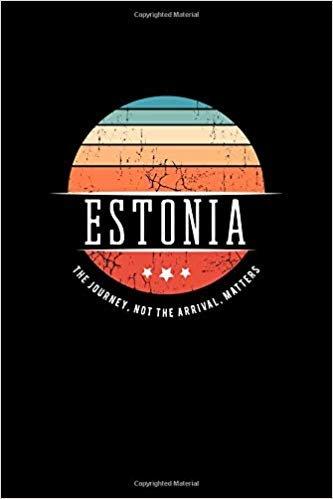 Estonia: Vintage World Travel Keepsake Blank Journal Notebook
