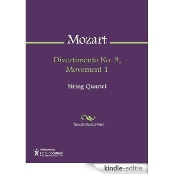 Divertimento No. 3, Movement 1 - Score [Kindle-editie]