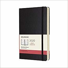 Moleskine 2020 Daily Planner, 12M, Large, Black, Hard Cover (5 x 8.25)