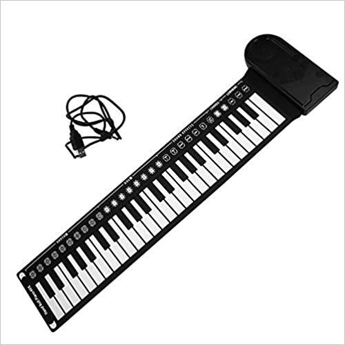 Generic 49 Tecla Do Teclado Do Piano Roll Carry- on Dobrar Piano Volume Ajustável Piano Eletrônico para Crianças Crianças