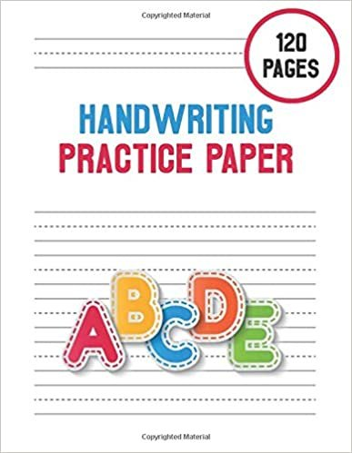 Handwriting Practice Paper: kindergarten workbook writing sight words