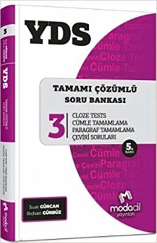 YDS Tamamı Çözümlü Soru Bankası Serisi 3 - Tüm Gramer Konuları