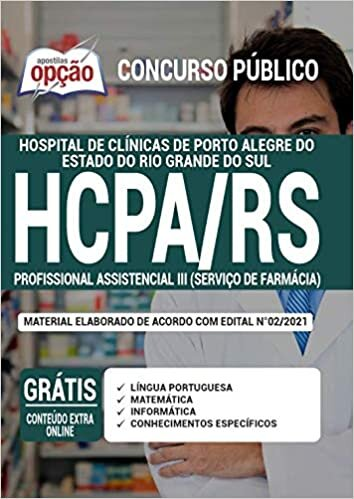 Apostila HCPA RS - Profissional Assistencial 3 - Farmácia