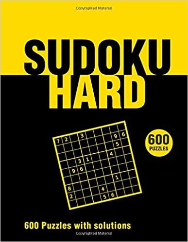 Sudoku Hard 600 Puzzles with solutions: sudoku book for adults, expert,Includes solutions