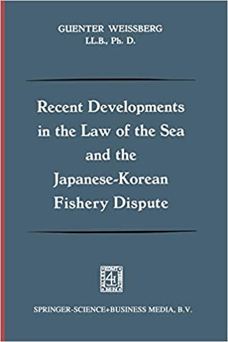 Recent Developments In The Law Of The Sea And The Japanese-Korean Fishery Dispute