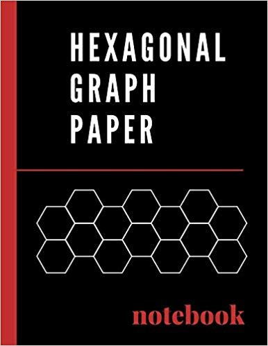"""Hexagonal Graph Paper Notebook: 0.2"""" hexagon grid perfect for organic chemistry, tiling & mosaics, RPG and Strategy gaming, crochet & bead work design"""