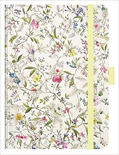 """Premium Timer Big """"Wild Flowers"""" 2021: Hochwertiger Buchkalender. Terminplaner mit Wochenkalendarium, Gummiband und Stifthalter. 12 x 17 cm"""