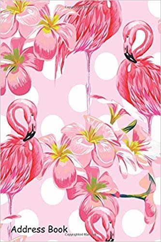 Address Book: For Contacts, Addresses, Phone, Email, Note,Emergency Contacts,Alphabetical Index With Flamingo Watercolor Floral Leaves