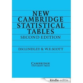 New Cambridge Statistical Tables [Kindle-editie]