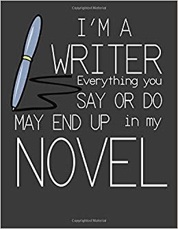 I'm a Writer: Writer's Notebook. Writer Gifts. 8.5 x 11 size 120 Lined pages Writer Journal