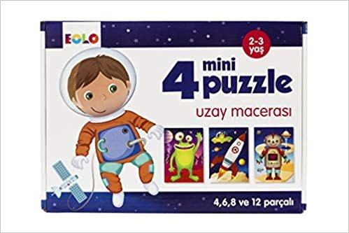 4 Mini Puzzle Uzay Macerası