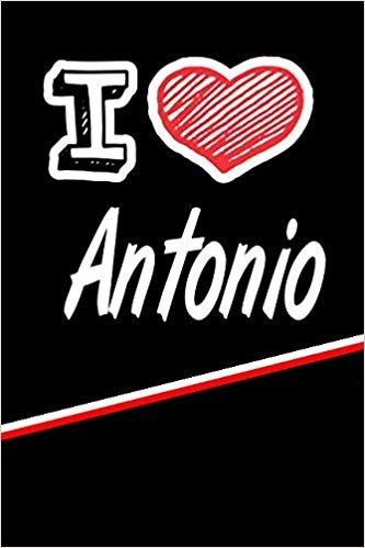 """I Love Antonio: Blood Sugar Diet Diary journal log featuring 120 pages 6""""x9"""""""