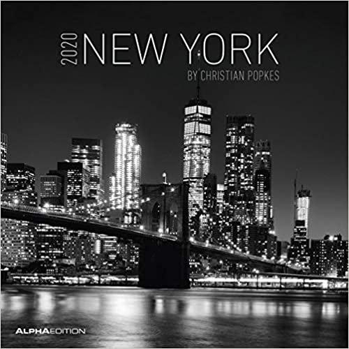 New York 2020 - Broschürenkalender (30 x 60 geöffnet) - Wandkalender - schwarz-weiß - Städtekalender - Wandplaner: by Christian Popkes