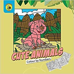 Cute Animals Colour by Numbers: Practice Learning Numbers While Having Fun Colouring! (Ages 3-5) (Learn & Play Kids Activity Books)