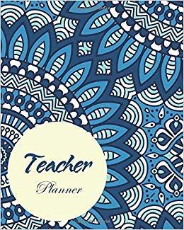 Teacher Planner: Bluesky Mandala, Academic Year Lesson Plan, Productivity, Time Management for Teachers (July 2019 - June 2020)