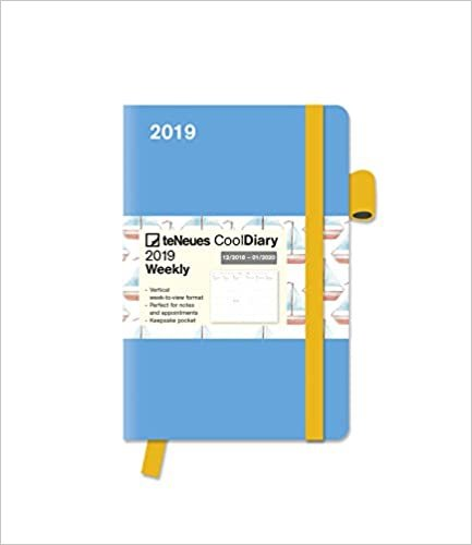 2019 teNeues Light Blue / Boat Cool Diary - 9 x 14 cm