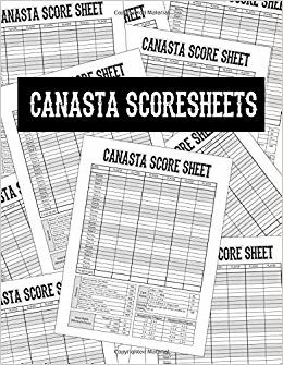 "Canasta Score Sheets: Scoring Pad for Canasta Card Game | Game Record Keeper Notebook | Point Reference on Scoring Pad | Score Keeping Book | 8.5"" x 11"" - 100 Pages"