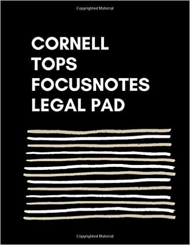 "CORNELL Tops Focusnotes Legal PAD:: BookFactory Universal Note Taking System (Cornell Notes) / Note Taking Notebook - 120 Pages, 8.5"" x 11"" - Wire-O-A(Universal-Note))"
