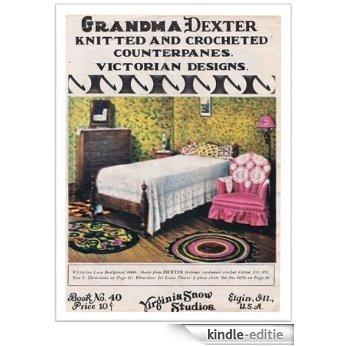 #2234 VICTORIAN LACE BEDSPREAD & LOTUS FLOWER 3-PIECE CHAIR SET VINTAGE CROCHET PATTERN (English Edition) [Kindle-editie]