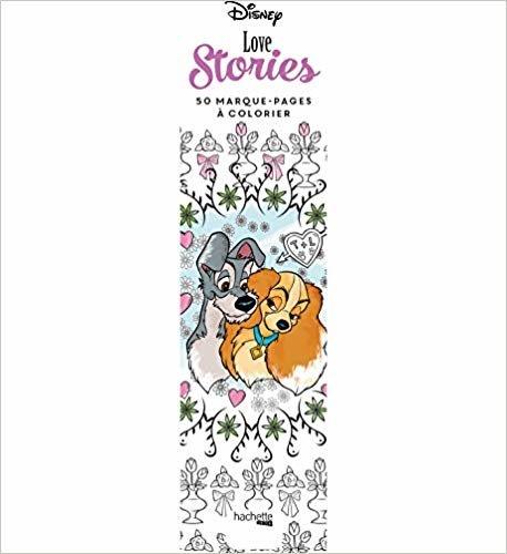 Marque-pages Disney Love stories: 50 marque-pages à colorier (Heroes)