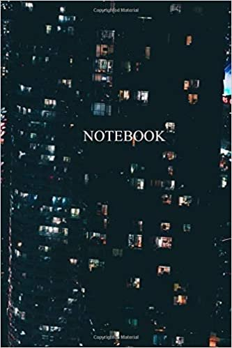 NOTEBOOK: Lined Notebook Journal Color Cover Night-120 pages-Large (6 X 9 inch)-Blank pages