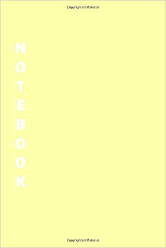 Notebook: Yellow Lined Notebook & Journal for Writing (110 pages, Lined, 6 x 9 inches, Matte, Colorful Cover) || Classic Notebooks