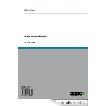 Internationale Regime [Kindle-editie]