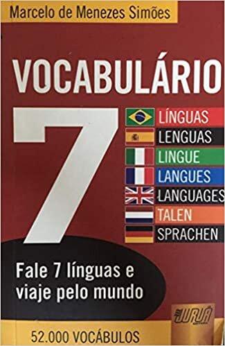 Vocabulário 7 Línguas/Lenguas - Minibook