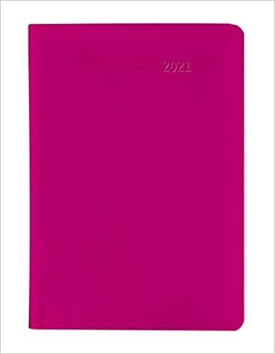 Minitimer PVC himbeerrot 2021 - Taschenplaner A6 - 1 Woche 2 Seiten - 192 Seiten - Notiz-Heft - Alpha Edition