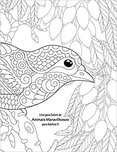 Livro para Colorir de Animais Maravilhosos para Adultos 5