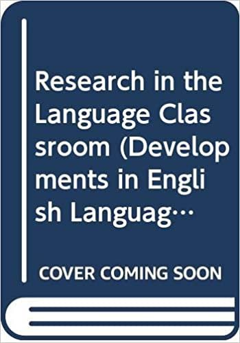 Research In The Language Classroom (Developments in English Language Teaching)