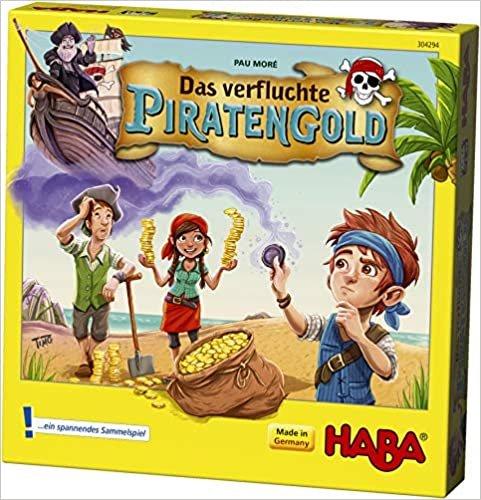 HABA 304294 – Korsan Altını, Korsan Gemisi ve 50 Oyun Madeni Para ile Heyecan verici Hediye Oyunu, 5-99 Yaş 2 – 4 Oyuncu için