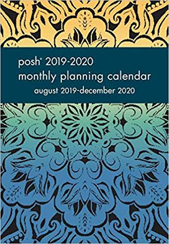 Posh - Midnight Mandala 2019-2020 Monthly Pocket Planning Calendar