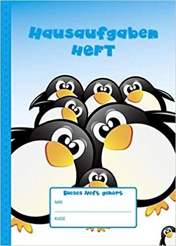 Hausaufgabenheft A5 Pinguine: immerwährend - 1 Woche 2 Seiten