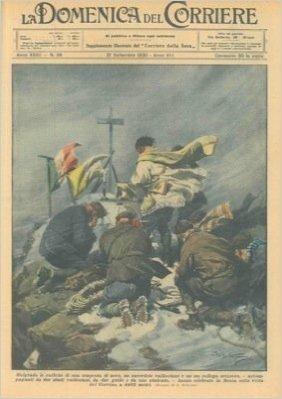 Messa celebrata sulla vetta del Cervino malgrado una tempesta di neve.