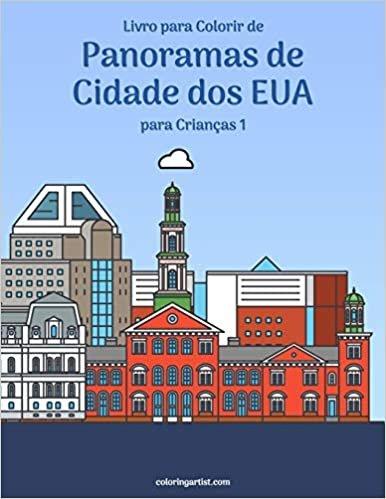Livro para Colorir de Panoramas de Cidade dos EUA para Crianças 1