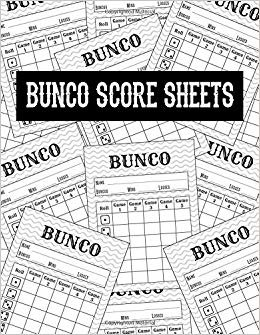 Bunco Score Sheets: Scoring Pad For Bunco Players | Score Keeper Notebook | Game Record - 8.5 x 11 - 100 Pages