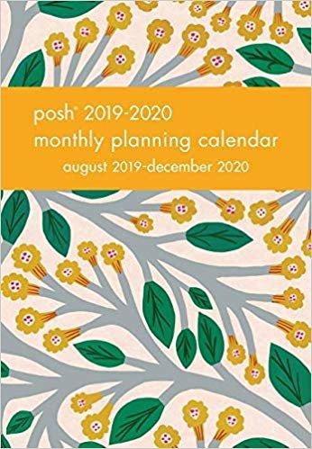 Posh - Trumpet Vines 2019-2020 Monthly Pocket Planning Calendar