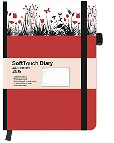 2018 Tulips Diary - teNeues SoftTouch Diary Silhouettes - 16 x 22 cm