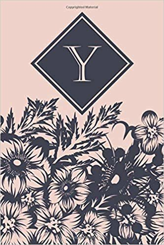 Y: Elegant monogrammed blank dotted journal: Beautiful and classic bulleted dot grid notebook: Pink and navy floral design