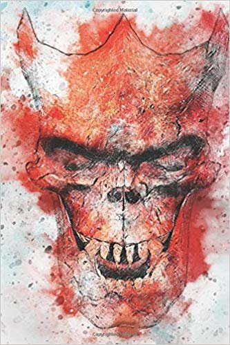 Watercolor Evil Face: Blank Lined Notebook, Journal or Diary