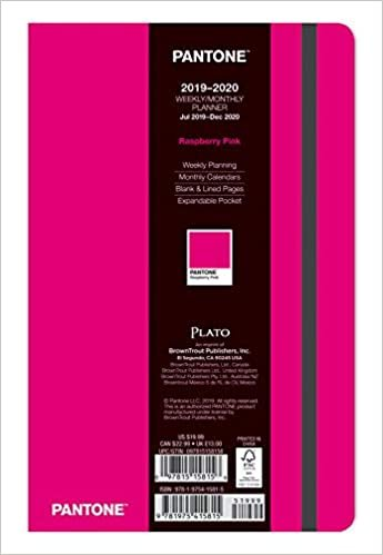 Pantone Planner 2020 Compact Raspberry Pink - 18 Month