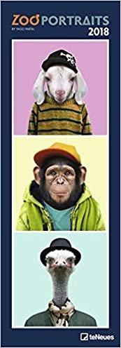 2018 Zoo Portraits Slim Calendar - teNeues Slim Notes Calendar- Humour Calendar - 14.5 x 42 cm