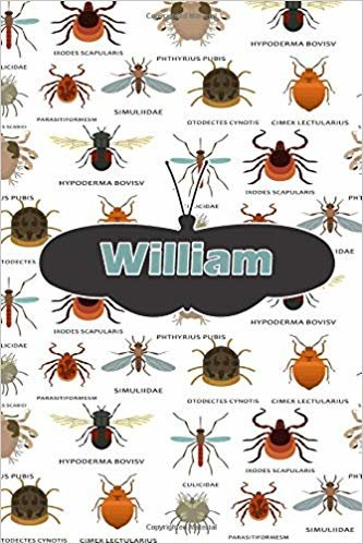 """William: Bug Insect Comic Book Notebook Journal book 120 pages 6""""x9"""""""