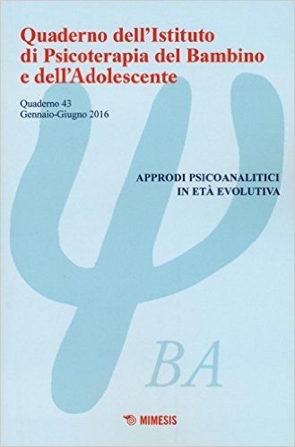 Quaderno dell'Istituto di psicoterapia del bambino e dell'adolescente: 43