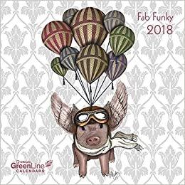 2018 Fab Funky GreenLine Calendar - teNeues Grid Calendar - 30 x 30 cm