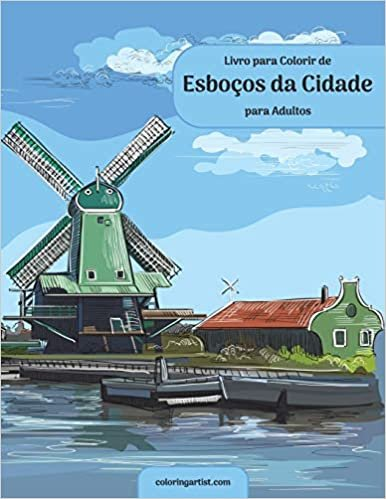 Livro para Colorir de Esboços da Cidade para Adultos