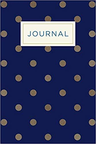 Inmate journal for women: Notebook with inspiring, positive and motivational quotes: Record your thoughts, document your progress: Navy polka dot cover