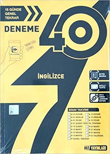 7. Sınıf 40'lı İngilizce Deneme