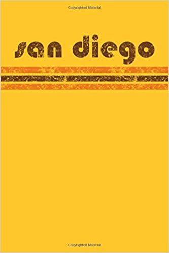 San Diego: California Notebook Journal Planner Retro Vintage Weathered 90 Pages